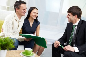 Couple with Mortgage Agent