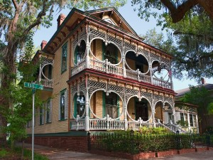 The Gingerbread House, one of the most famous homes in historic Savannah.